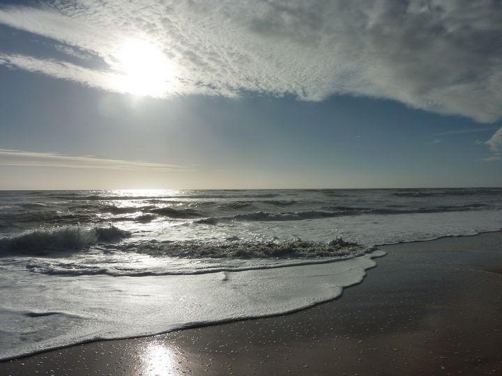 jeux de lumière sur l'océan